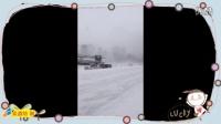 下雪路滑 高速连环撞车 教你一招保命