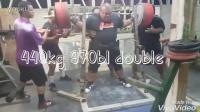 大力神优帕无装备深蹲440公斤2次!无敌!