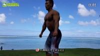 20161124健美欧巴关岛度假海滩上的肌肉锻炼