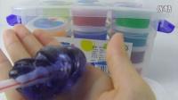 一起来玩天蓝色的水晶泥