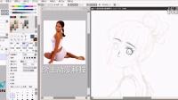 详细sai动态人物绘画教程,绘王(HUION)数位板特约手绘教程