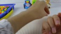玩具总动员 过家家益智板上拼图拼数字:2016