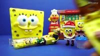 海绵宝宝的圣诞大礼盒 糖果盒 奇趣蛋 会唱歌的玩具手机 会发光的小风车