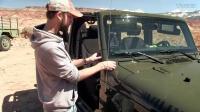 拆装jeep牧马人车门和前挡