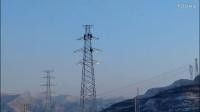十冬腊月天 铁塔农民工高空作业了不起
