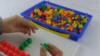 玩具 蘑菇钉益智板上拼图:小船
