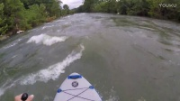 Guadalupe River Whitewater Paddleboarding 3700cfs