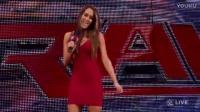本自同根生,WWE尼基贝拉看着姐姐布里1对2,布里强势获胜