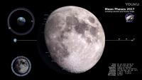 NASA- Moon Phases 2017 – Northern Hemisphere
