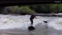 SUP river surfing Glenwood Springs