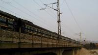 京局津段HXD3C牵引客车K920(汉口-天津)通过京九线380km处