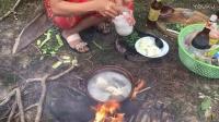柬埔寨媳妇野外做饭杀鸡摸蛇大合集