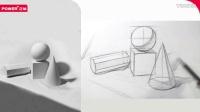 正能-《素描初学者入门从石膏到静物》- 正方体、球体、八棱柱等 p131