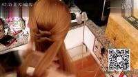 时尚盘发编发两股绕结低马尾发型实战讲解