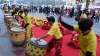 2017湛江市国武龙狮团贺年醒狮表演之金鼓齐鸣,群狮起舞,鸡年正月初一拜年醒狮