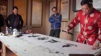 时代名家新春笔会活动:江改银杨哲杨水声旭日山人于泉州威远楼泼墨挥毫M2U01616
