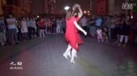 【北京水兵舞】红裙子美女