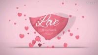 甜蜜趣味爱心飘浮汇聚成心形情人节浪漫场景片头模板——www.lixiaomeng.net李小萌模板