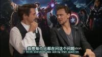 【中文字幕】 Avengers press junket (RDJ with Tom Hiddleston).