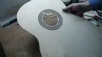 小蒋手工吉他制作步骤 (3) 音孔饰圈 面板梁架