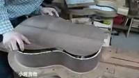 小蒋手工吉他制作步骤 (4) 合琴镶饰边 粘指板