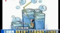 午间微提醒:感冒发烧千万不要猛喝水  小心休克[午间新闻](原画)