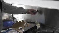 威猛达商用炉灶节水阀安装讲解