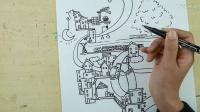 少儿绘画:空中城市