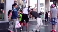 世界街舞冠军假扮老人与街头青年斗舞