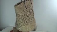 闪耀吧 棉草拉菲和亮片纱结合的花样编织手挎大包
