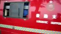 香港长洲消防局 后勤支援车出动