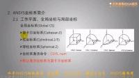 水哥ANSYS初级教程5-ANSYS单位及坐标系简介