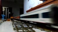 火车模型-SS9牵引混编客列运行
