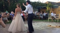 Bride puts a spell on her groom during first dance
