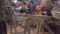 斜孔实木桌子