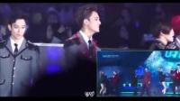 [benben搬运]161226 sbs歌谣大战 - EXO seventeen reaction to GOT7 twice gfriend 合作舞台