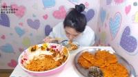 韩国女主播大胃王吃播大挑战