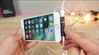 布丁TechRax YouTube上EverythingApplePro转播——iphone7上边听有线耳机音乐边充电、激光灯