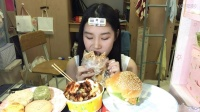 【第十五期】吃播 缙云烧饼+汉堡+土豆豆腐年糕+稻香村2种糕点