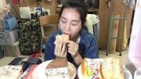 【第十六期】吃播 面包特辑 奶酪包 热狗面包 肉松包 抹茶奥利奥千层蛋糕