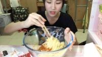 【第十八期】吃播 火鸡面挑战 三包面五包酱 辣哭TAT
