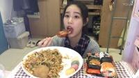 【第二十四期】吃播 糯米特辑 脆皮年糕+炒年糕+什锦寿司+爆浆麻薯