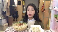 【第二十七期】吃播 大排米线+南京灌汤包+奶酪片