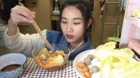 【第二十五期】吃播 自制寝室小火锅+珍珠奶茶