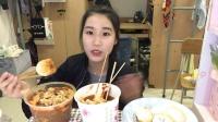 【第二十二期】吃播 酸辣粉+生煎+关东煮年糕