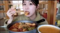 38.吃播 料超足的部队锅 韩式南瓜浓汤(没吃完)