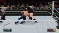 WWE2K17 首战 AJ斯泰尔斯