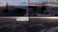 X-Plane 11.Dash8 Q400 Highly realistic approach over Helsinki