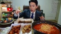 韩国banzz奔驰小哥大胃王吃播(鸡蛋+鸡肉)直播间2017.3.12