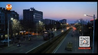 青岛城阳有轨电车示范线街景夜景素材1